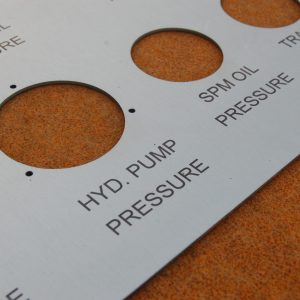 laser marking nameplate label